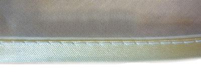 Обработка края штор, тюля косой бейкой