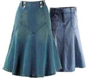 Сшить джинсовую длинную юбку