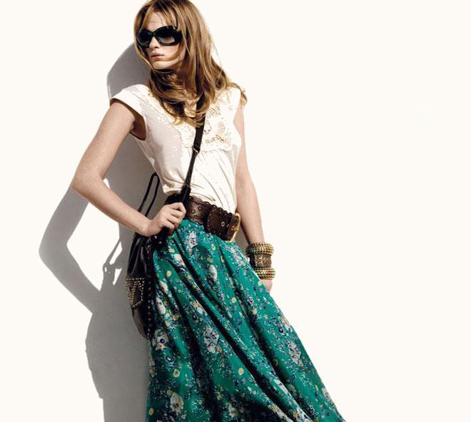 юбка солнце из шифона на резинке перед короткий:
