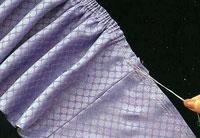 Как правильно пришить оборку к юбке