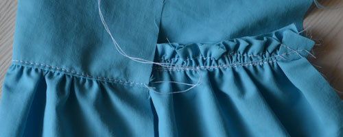 Как сделать оборки юбку