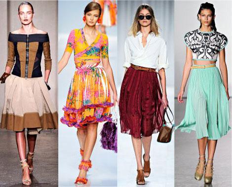 Модные юбки из шелка