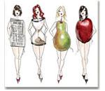 Типы женских <em>одежды из нескольких цветов</em> фигур