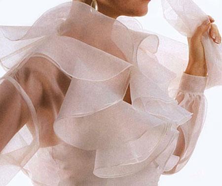 Выкройка блузы с рюшей 4
