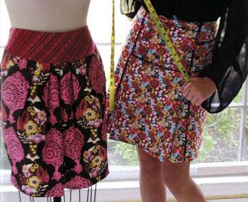 Выкройка прямой юбки - мои первые модели