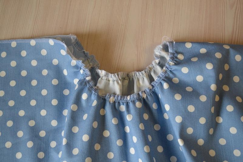 Сборка юбки-солнце на резинке