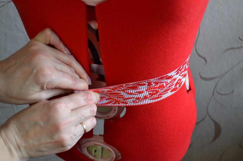Длина резинки для пояса юбки-солнце