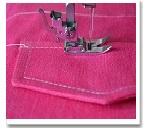 Обработка накладного клапана и кармана