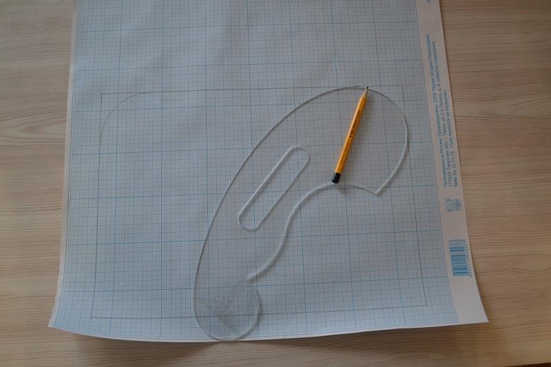 Бумага для построения выкройки сумки