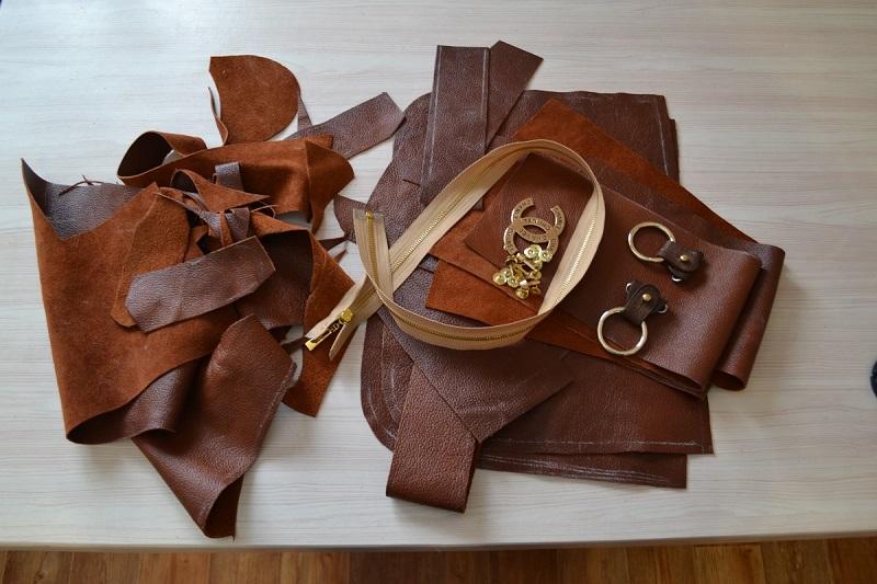 Фурнитура для пошива кожаной сумки