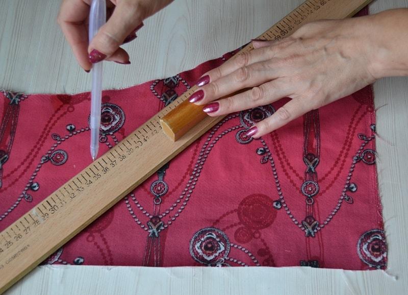 Как вырезать полоски ткани для бейки