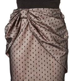 Складка юбки в виде банта