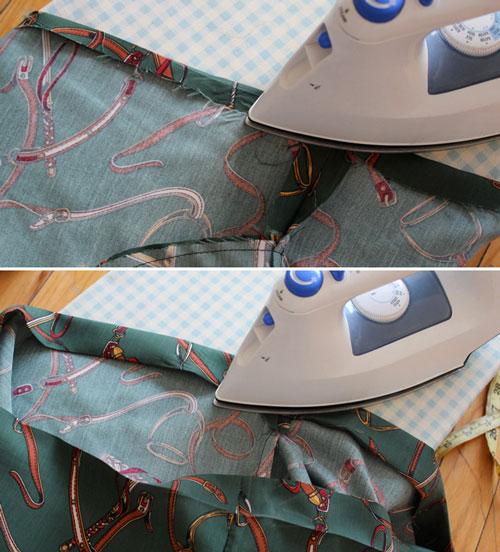 Резинка находится внутри пояса юбки