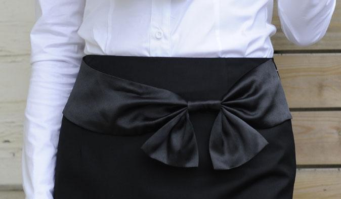 Варианты юбки с бантами