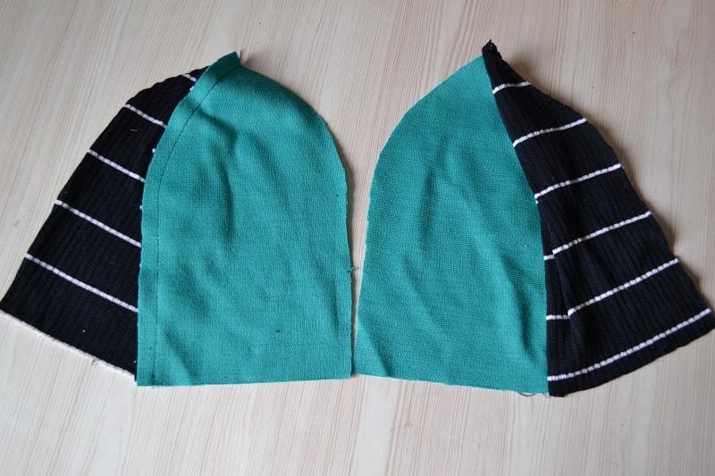 Сшитые шапки из трикотажа для