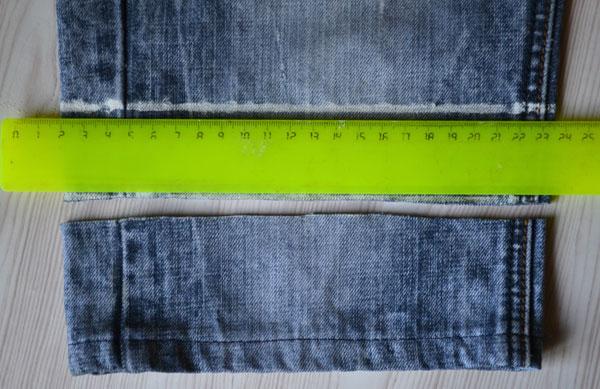 Как наметить линию подгибки джинсов