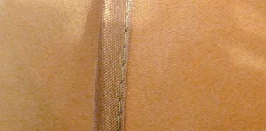 Технология обработки края шторы косой бейкой