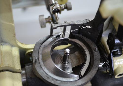 Регулировка челночного хода швейной машины Чайка