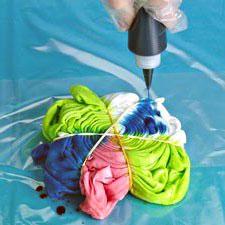 Как покрасить ткань с разводами