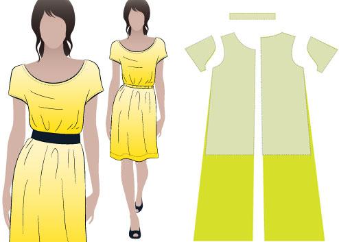 Как шить платье трапеция выкройка фото 496