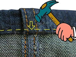 Как сделать дырку на джинсах в домашних условиях