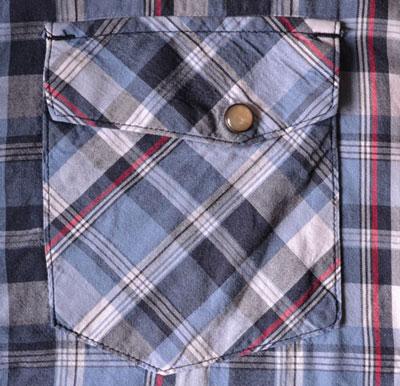 Накладной карман для рубашки с клапаном