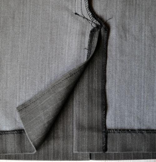Как выполнять шлицу на юбке