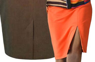 Выкройки прямых юбок с разрезом сзади