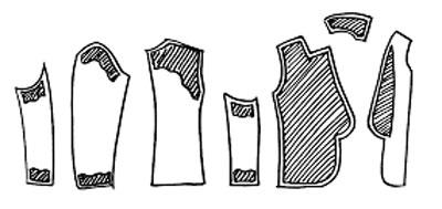 Детали одежды и клеевые ткани