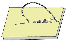Стачной ручной шов