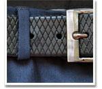 Обработка шлевки для пояса