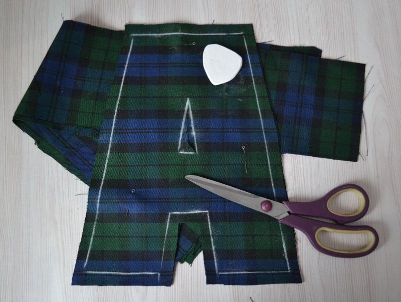 Раскладка ткани для буквы-подушки