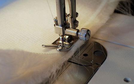 Способы обработки срезанного края искусственного меха