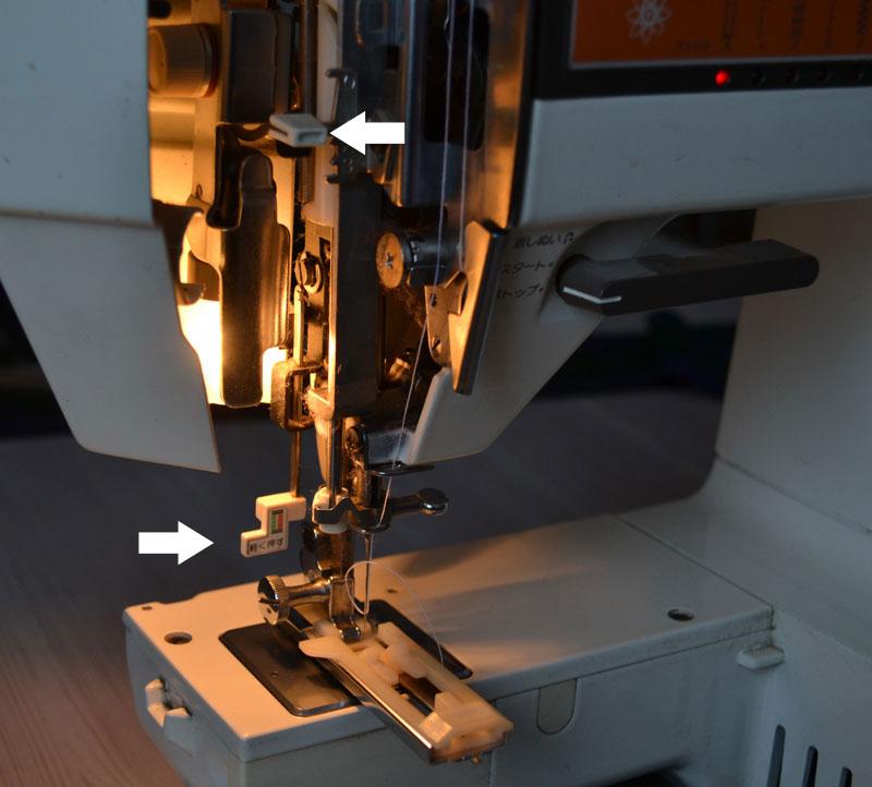 Прежде чем пробивать петли настройте швейную машинку