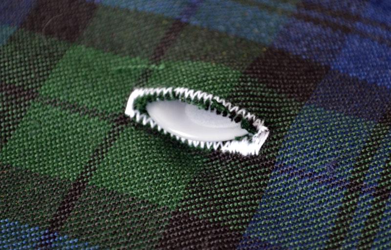Размер пуговицы под петлю одежды