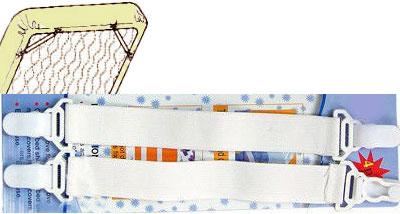 Кламмеры для простыни на резинке
