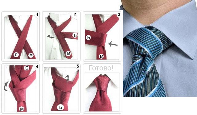 как правильно завязать галстук в картинках