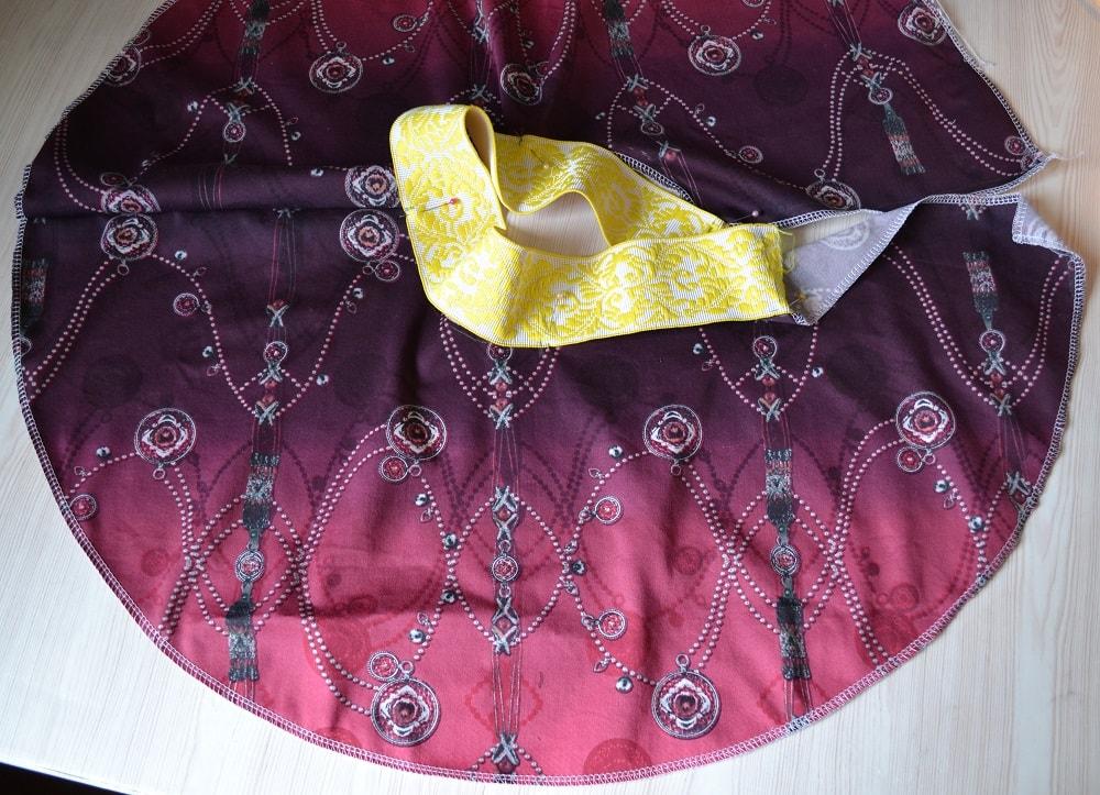 Как сшить юбку-солнце на резинке для девочки, шаг 11