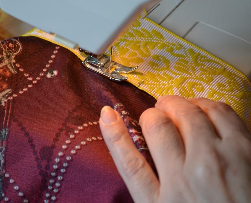 Как сшить юбку-солнце на резинке для девочки, шаг 14