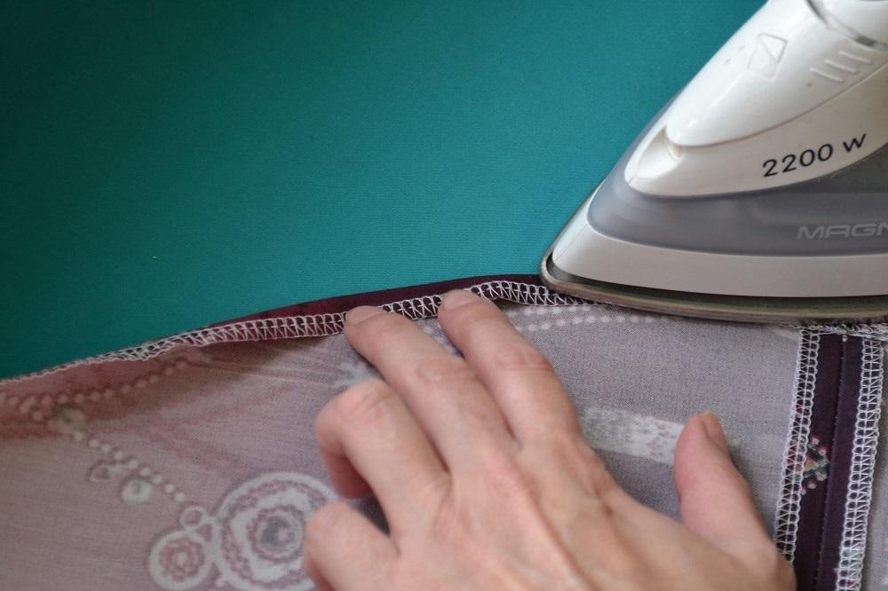 Как сшить юбку-солнце на резинке для девочки, шаг 23