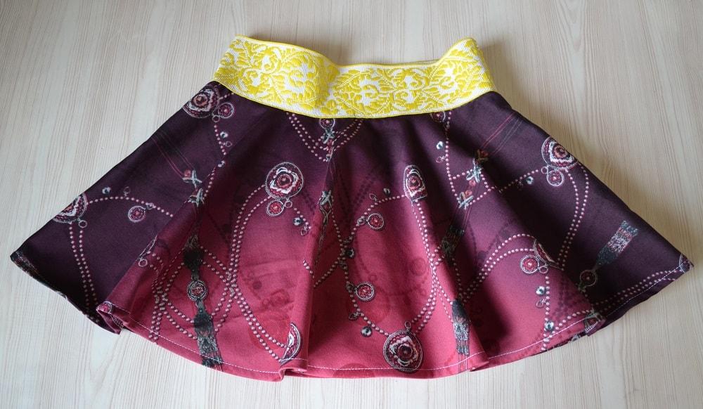 Как сшить юбку-солнце на резинке для девочки, шаг 26