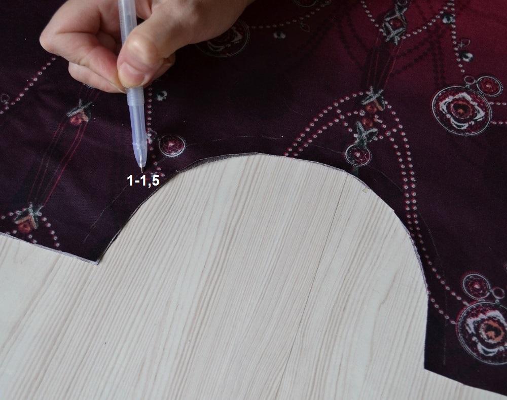Как сшить юбку-солнце на резинке для девочки, шаг 3