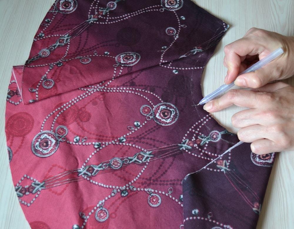 Как сшить юбку-солнце на резинке для девочки, шаг 4