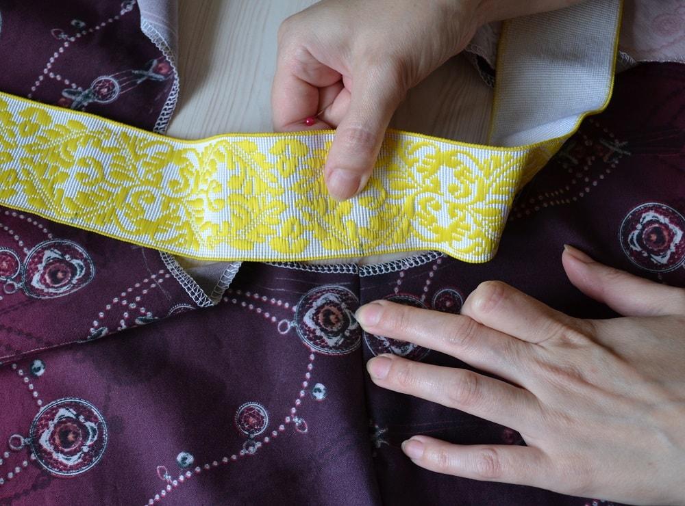 Как сшить юбку-солнце на резинке для девочки, шаг 9