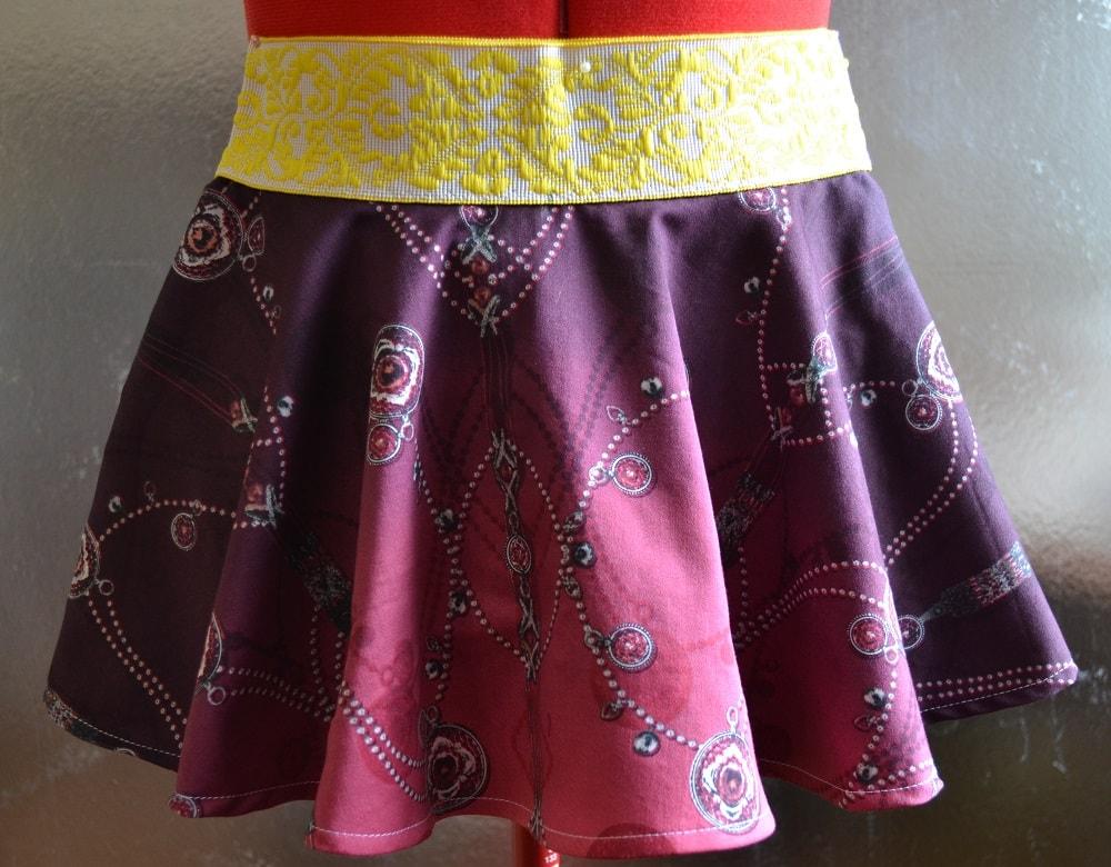 Как сшить юбку-солнце на резинке для девочки