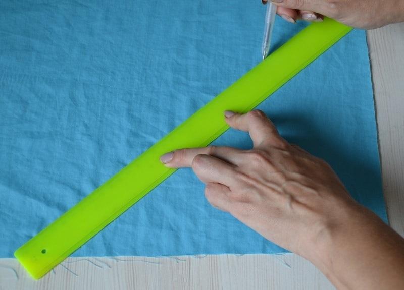 Как сделать косую бейку из ткани видео фото 355