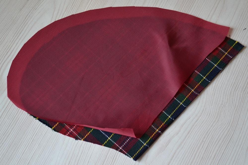 Обработка внутреннего бокового кармана платья, шаг 2