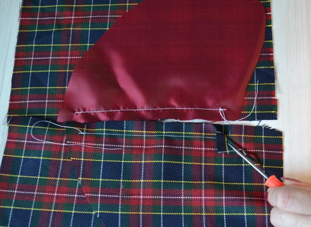 Обработка внутреннего бокового кармана платья, шаг 5