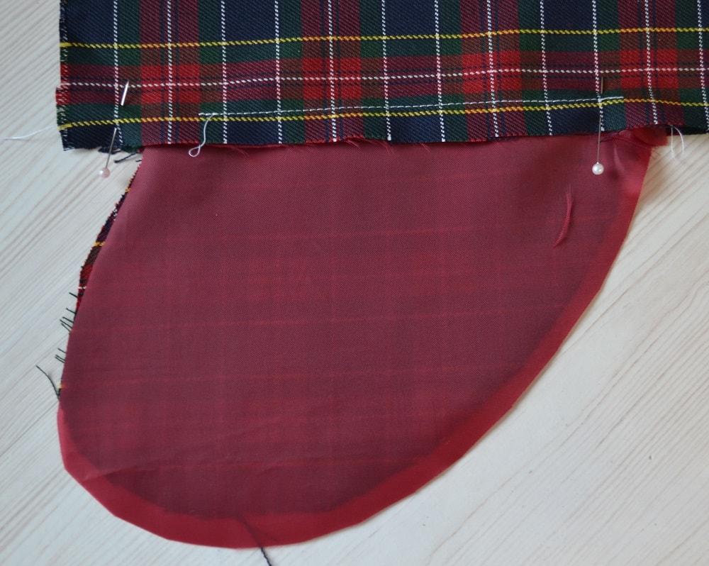 Обработка внутреннего бокового кармана платья, шаг 9