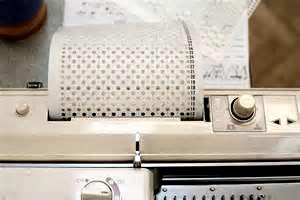 Перфокарта вязальной машинки